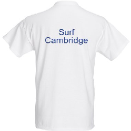 Surf Cambridge T-shirt back