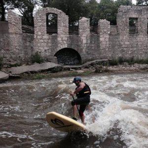 Surfing Parkhill Bridge